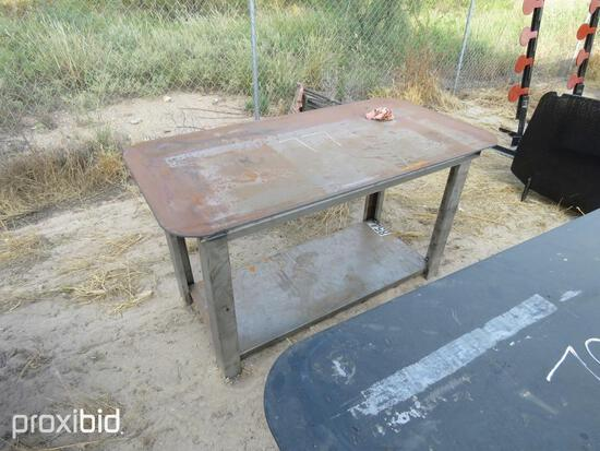 NEW 30IN. X 57IN. WELDING TABLE W/SHELF NEW SUPPORT EQUIPMENTNG.