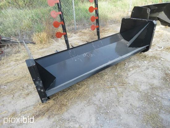 NEW 8FT. COMMERCIAL SNOW PUSHER SNOW EQUIPMENT w/steel blade.NG.
