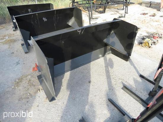 NEW 6FT. COMMERCIAL SNOW PUSHER SNOW EQUIPMENT w/steel blade.NG.