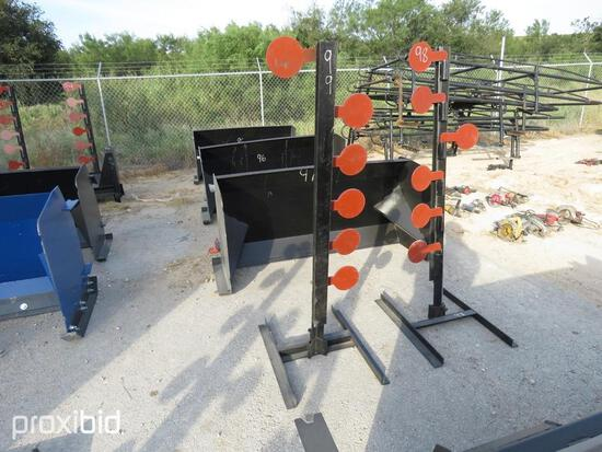 NEW 3/8IN. AR500 DUELING TREE SHOOTING TARGET NEW SUPPORT EQUIPMENTNG.