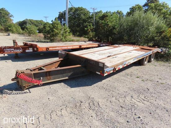 1994 EAGER BEAVER XLH40XL TAGALONG TRAILER VN:42979 equipped with 20 ton capacity, ramps, air brakes