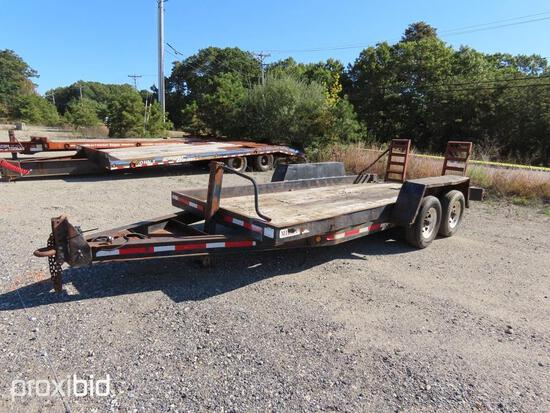 ...POUND TAGALONG TRAILER VN:61096 equipped with 7 ton capacity, ramps, 225/75-15 tires, tandem axle