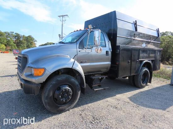 2000 FORD F650 UTILITY TRUCK VN:A49263 powered by diesel engine, equipped with automatic transmissio
