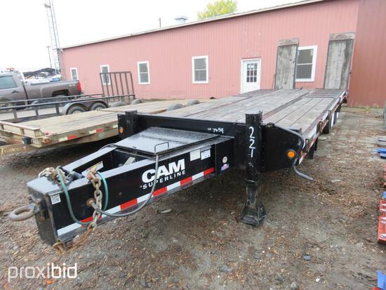 2015 CAM SUPERLINE 20CAM825TARR TAGALONG TRAILER VN:5JPBU3124FP037654 equipped with 20 ton capacity,