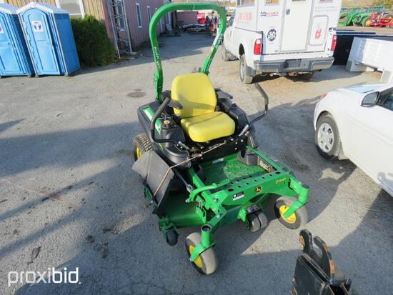 2017 JOHN DEERE Z915 COMMERCIAL MOWER powered by gas engine, equipped with cutting deck, zero turn.