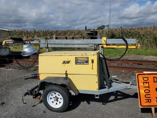 BOSS BTP64MH LIGHT PLANT SN:CO3-10-00093 powered by diesel engine, equipped with 4-1,000 watt lightb