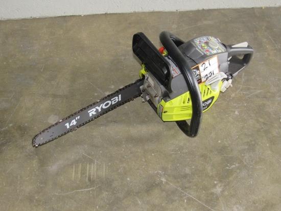"""Ryobi Gas Powered 14"""" Chainsaw-"""