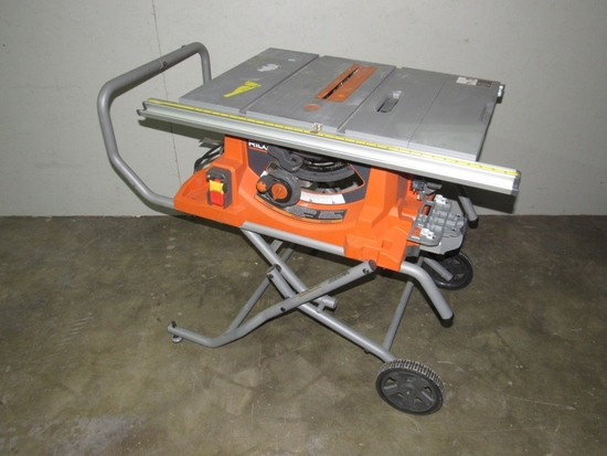 """Ridgid 10"""" Table Saw with Rolling Stand-"""