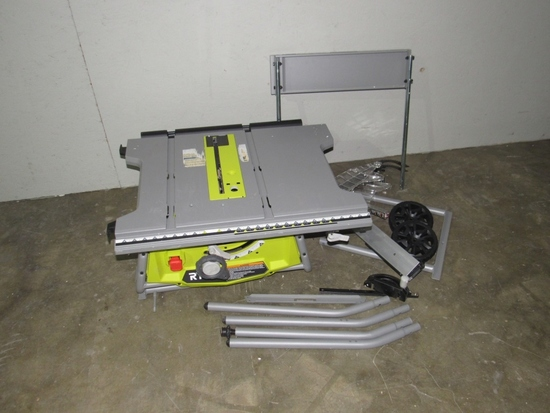 """Ryobi 10"""" Expanded Capacity Table Saw w/ Stand-"""