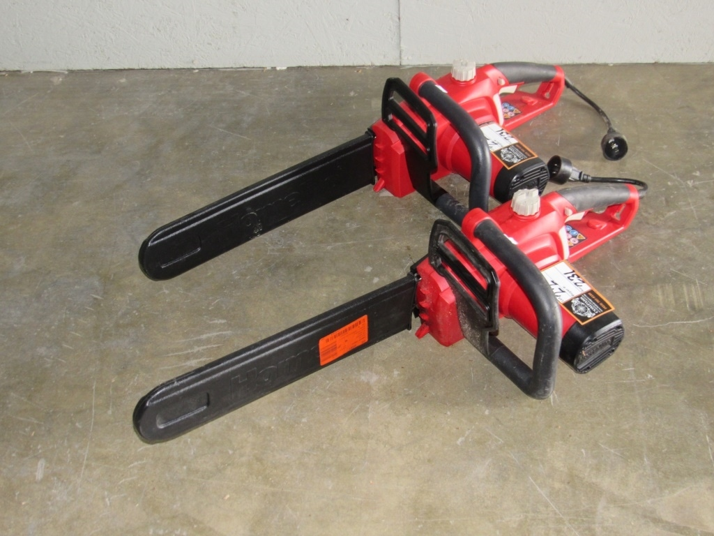 (Qty - 2) Homelite Corded Chainsaws-
