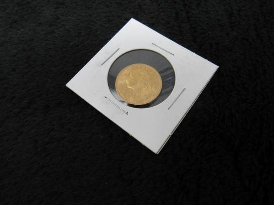 1927 20 Swiss Francs Helvetia Gold Coin AU/BU-
