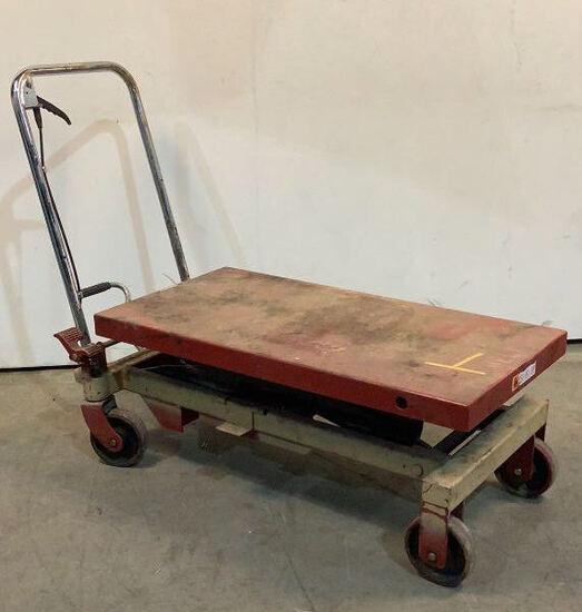Rolling Hydraulic Lift Cart