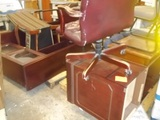 Lot on 2 Pallets of Credenza Hutch, End Table & Various Chairs