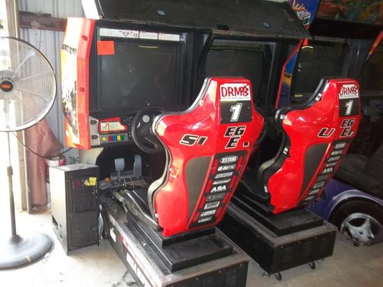 Dual Sega Super GT Driving Arcade Game