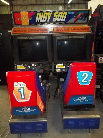 Sega Indy 500 Dual Chair Driving Arcade Game