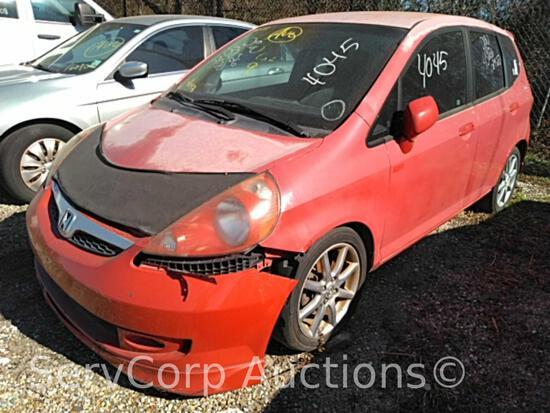 2008 Honda Fit Passenger Car, VIN # JHMGD38698S015639