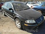 2003 Volkswagen Passat Passenger Car, VIN # WVWRH63B93P284823