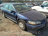 2002 Honda Accord Passenger Car, VIN # JHMCG66572C015948