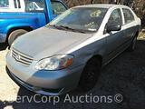 2003 Toyota Corolla Passenger Car, VIN # 1NXBR32E23Z001765