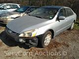 2003 Honda Accord Passenger Car, VIN # 3HGCM56343G706857