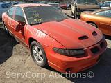 1998 Pontiac Grand Prix Passenger Car, VIN # 1G2WP5217WF208573