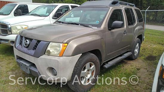 2007 Nissan Xterra Multipurpose Vehicle (MPV), VIN # 5N1AN08U47C516220