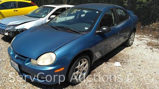 2002 Dodge Neon Passenger Car, VIN # 1B3ES56C12D645574