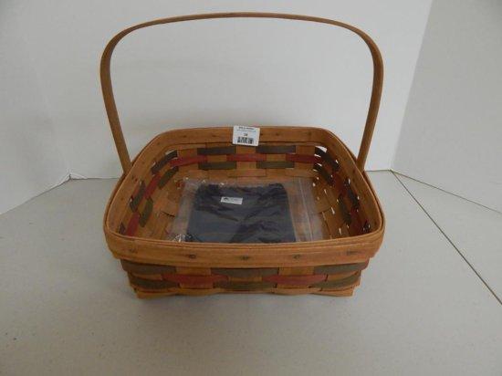 Longaberger Large Signature Pie Basket Signed by JW