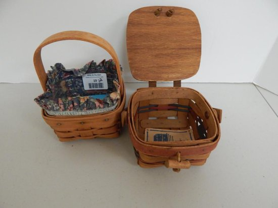 Lot of 2 Longaberger Small Spring Baskets