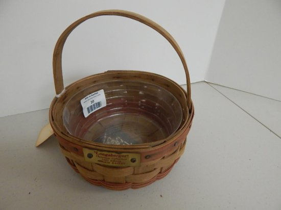 Longaberger Christmas Collection 1985 Edition Cookie Basket