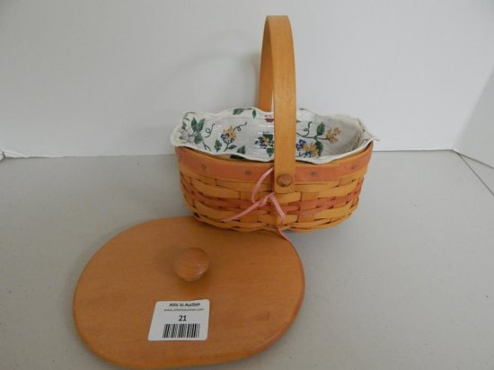 Longaberger 1999 Mother's Day Tea for Two Basket