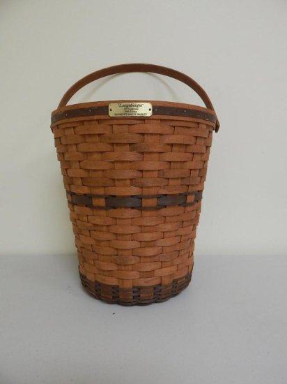Longaberger J.W. Collection 2/12, 1989 Edition Large Banker's Waste Basket