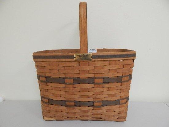 Longaberger J.W. Collection 5/12, 1987 Edition Large Bread & Milk Basket