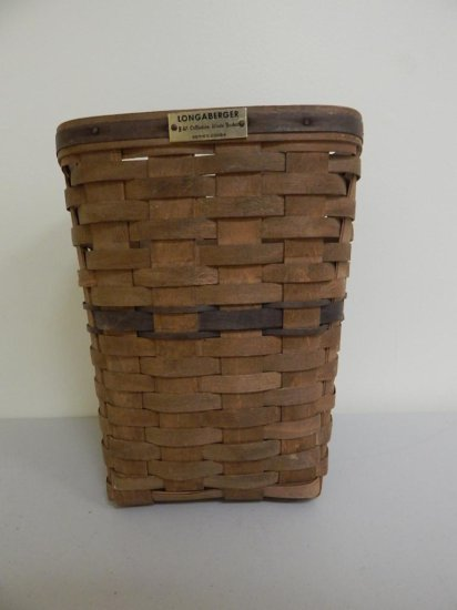 Longaberger J.W. Collection 7/12, Large Waste Basket Series 20084