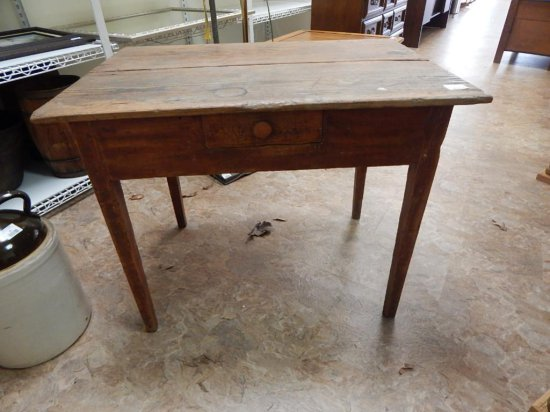 Antique Handmade writing desk with single drawer