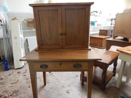 Vintage desk with mail organizer on top with one drawer