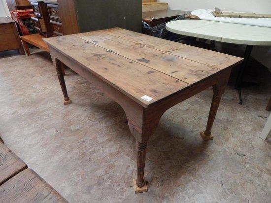 Antique handmade wooden desk