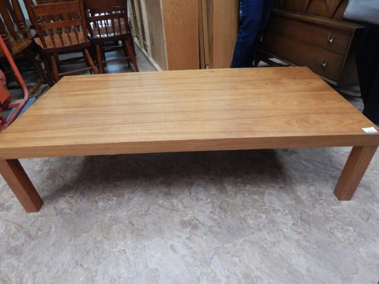 Vintage ash wood coffee table