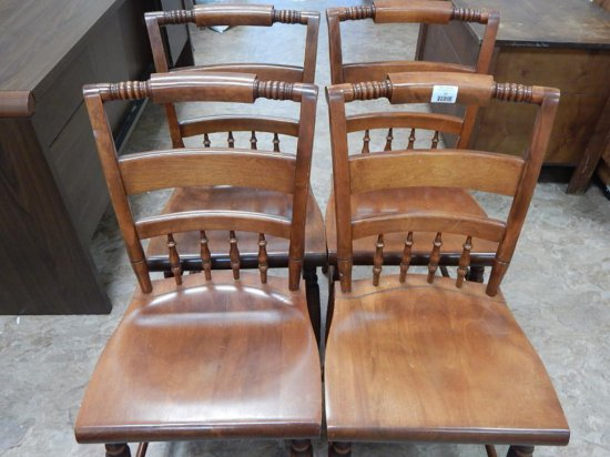 Nichols and stone company maple chairs set of 4