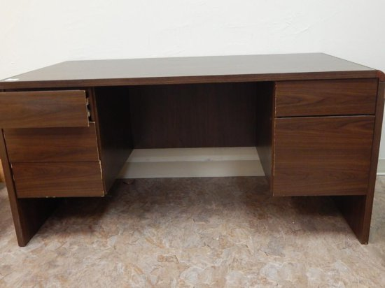 Mid century Modern desk and credenza