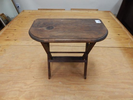 Antique Accent Table with Magazine Rack