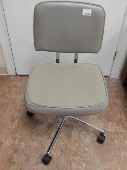 Vinyl padded desk chair adjustable