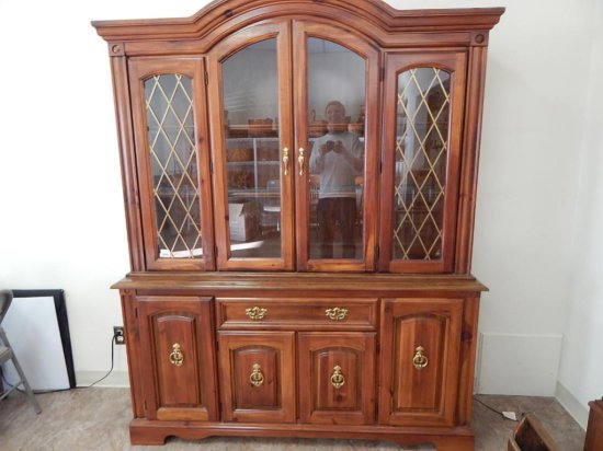Vintage Pine china cabinet