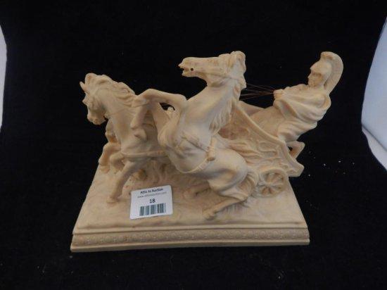 Vintage marble like chariot