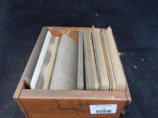 Antique stereoscope slides