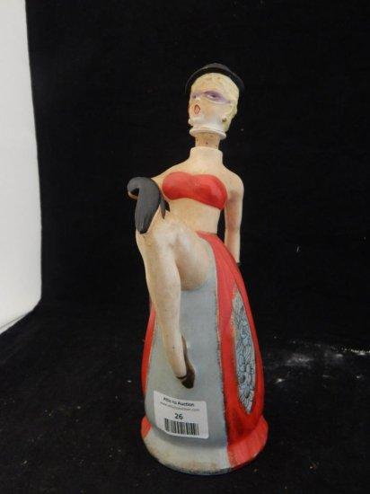Vintage lady music box decanter