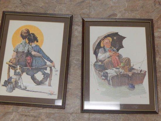 Pair of framed Vintage Norman Rockwell prints