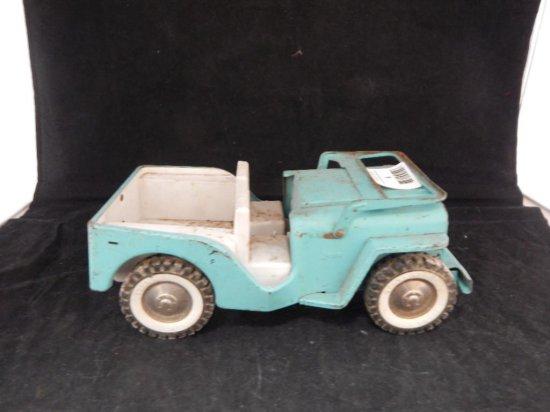 "Vintage Tonka Metal Jeep Green 10"""