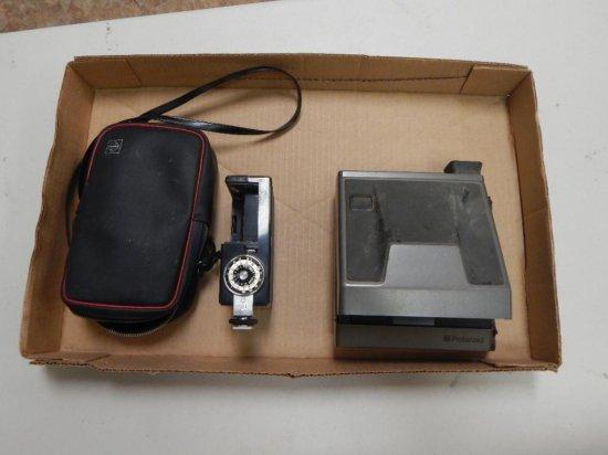 Vintage camera lot: polaroid and national