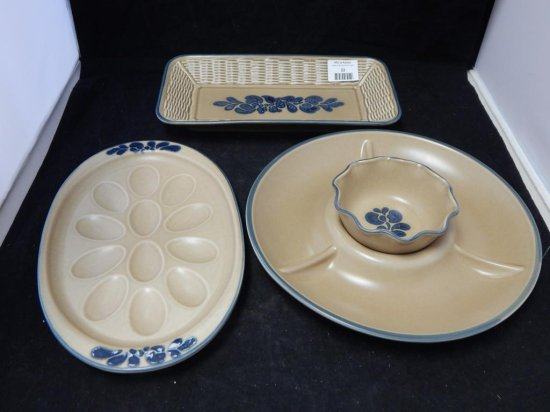 Pfaltzgraff Co Pottery, Lot of 4 Serving Dishes
